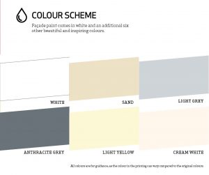masonary paint colour chart