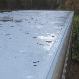 lorry roof needs repair to waterproof and stop leak