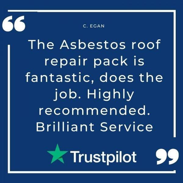 hole repair on asbestos roof