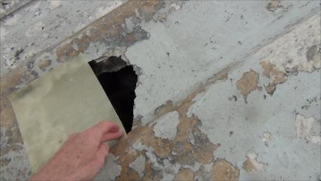 asbestos hole repair