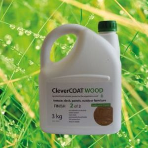 top coat of clevercoat a wood protective coating for garden furniture and decking