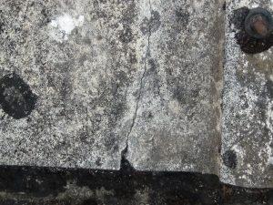 abestos roof sheet with crack