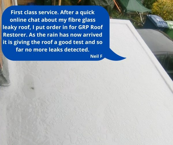 how to fix a fibreglass roof