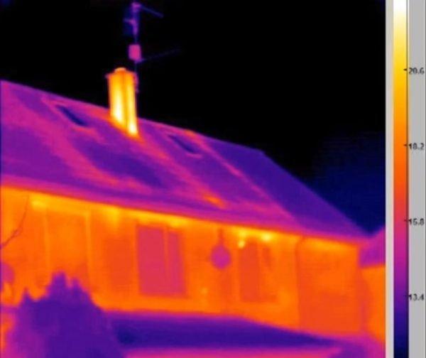 heat reflection on asbestos roof